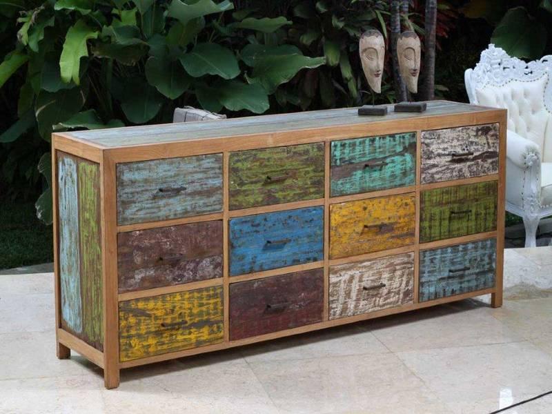 , mueble arte, mobiliario de artista, mueble reciclado de madera