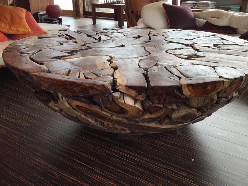 17 Mueble de madera de sono, mueble de raíz de caoba, mueble de